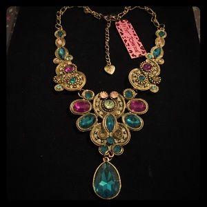 Betsey Johnson Colorful Bib Necklace